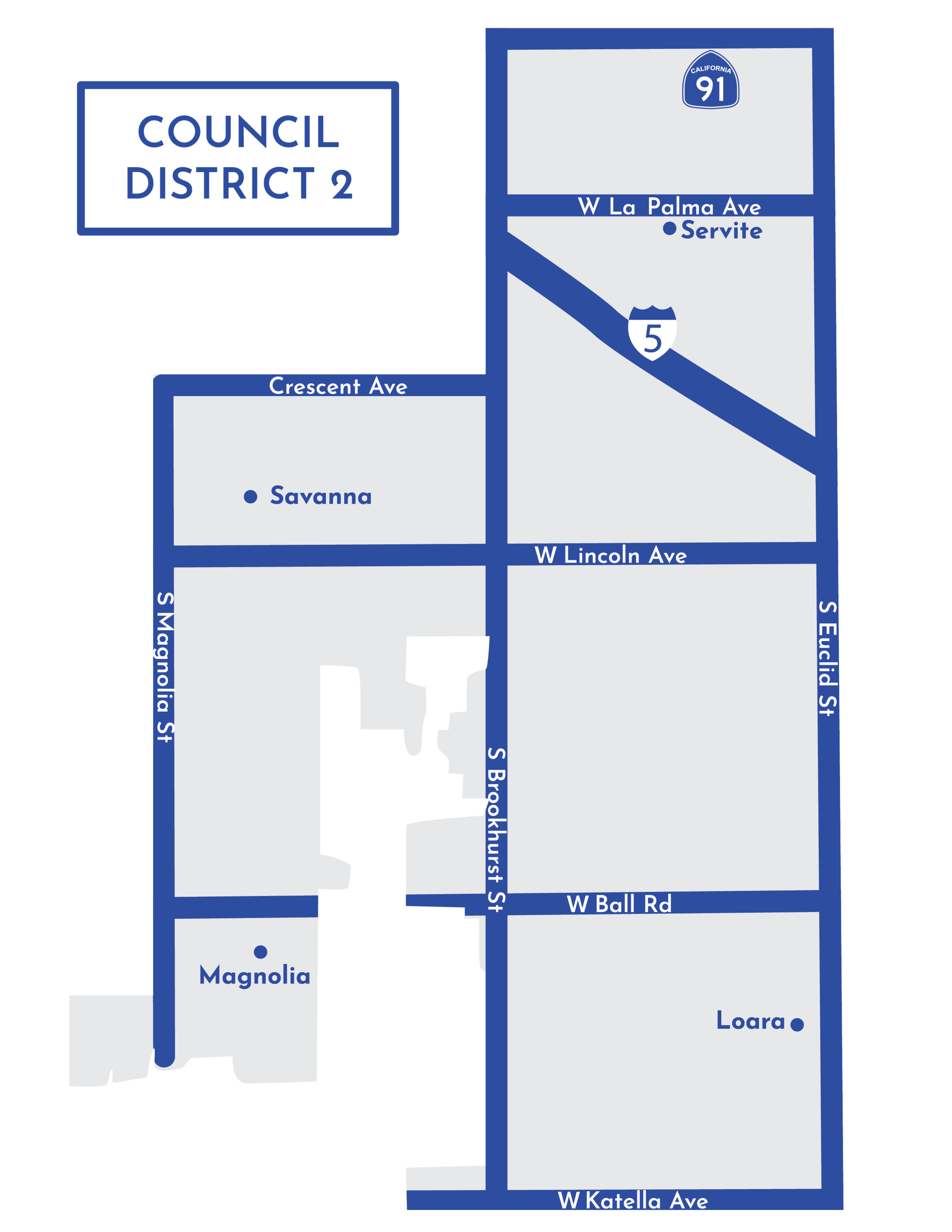 Anaheim's 2nd Council District.
