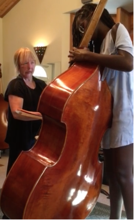 Ayanna Ali w/ Bass Teacher Anna Doak