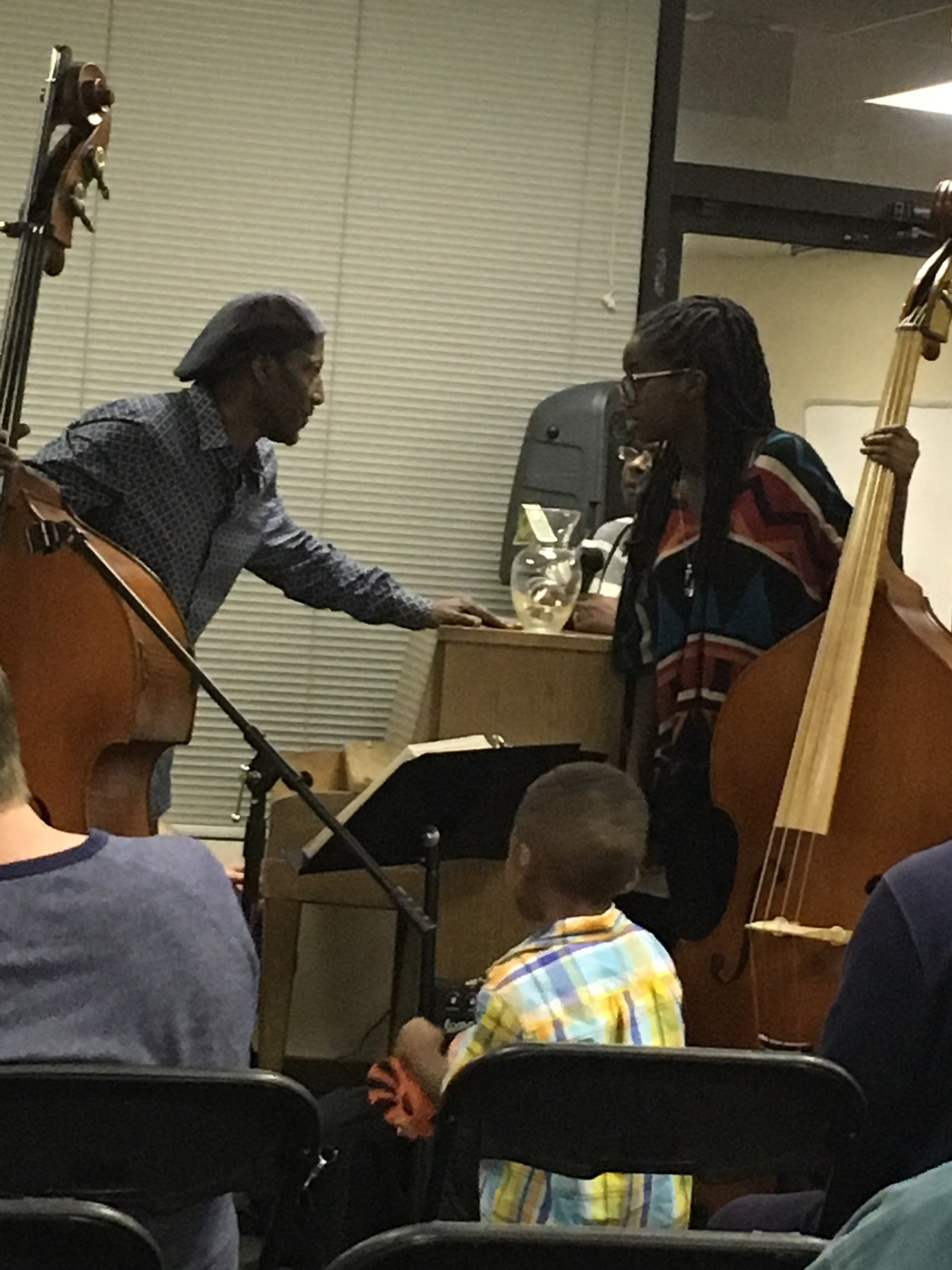 Ayanna Ali w/ Bass Teacher Devere Pride
