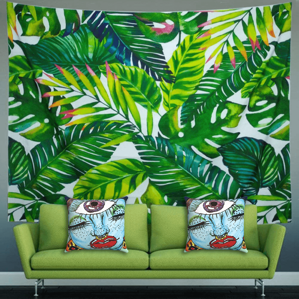 Third Eye Accent Pillows by Ayanna Ali with  Heopapin Banana Leaf Print Tapestry