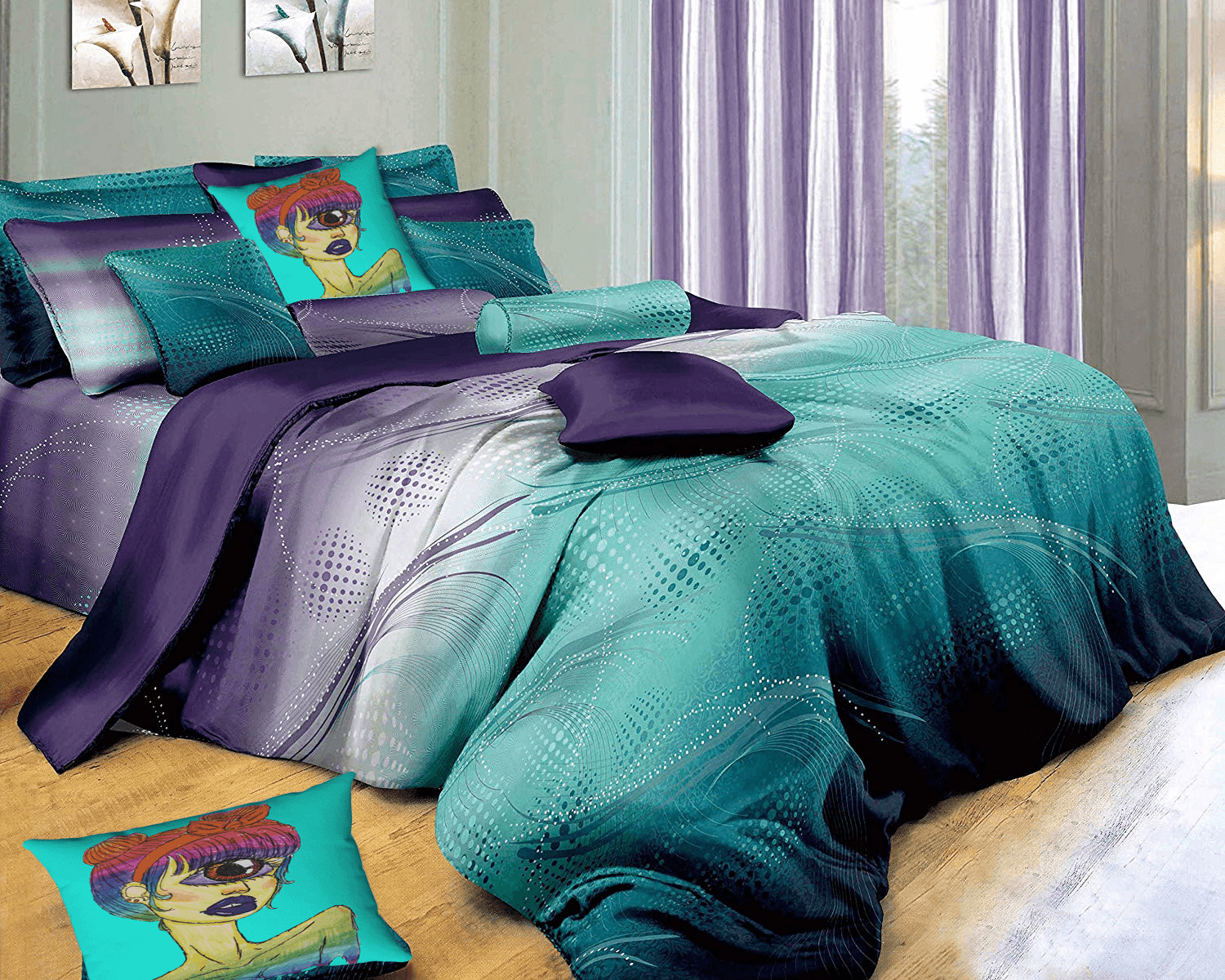 Cyclops Accent Pillow  by Ayanna Aliwith  Swanson Beddings Twilight-P 3-Piece 100% Cotton Bedding Set