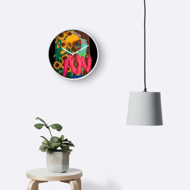 """Sunflower Vibes""   Wall Clock"
