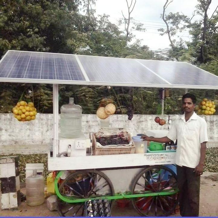Solar Panel food cart in Gabat.