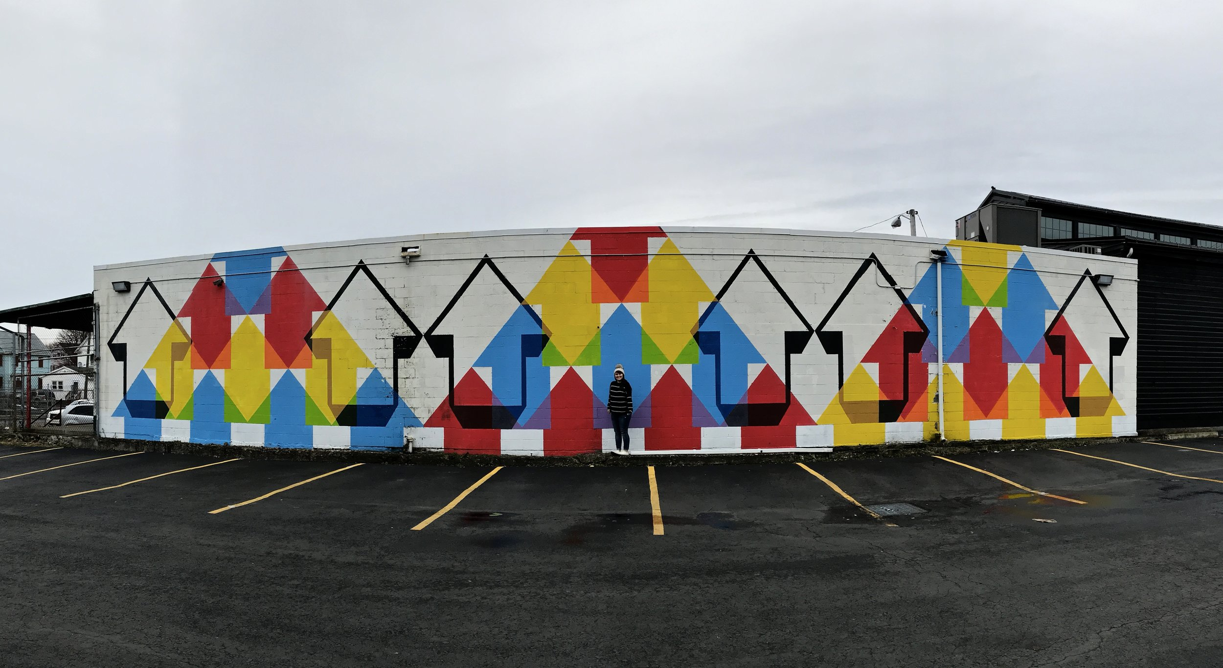 Arrows Mural | Best Murals in Rochester, NY | Emily Malkowski Blog
