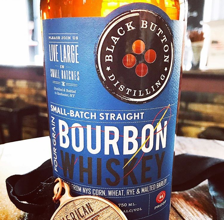 "- ""We don't just use New York State ingredients because we must. We do so, because we believe in local family farms as businesses but also because we believe in the genuine quality of New York grown ingredients.""-Quote from Black Button Distilling's website."