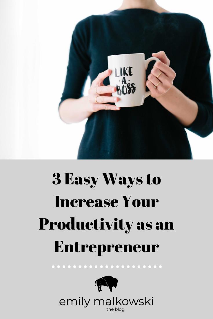 Productivity Tips for Entrepreneurs, Freelancers & Bloggers | Emily Malkowski