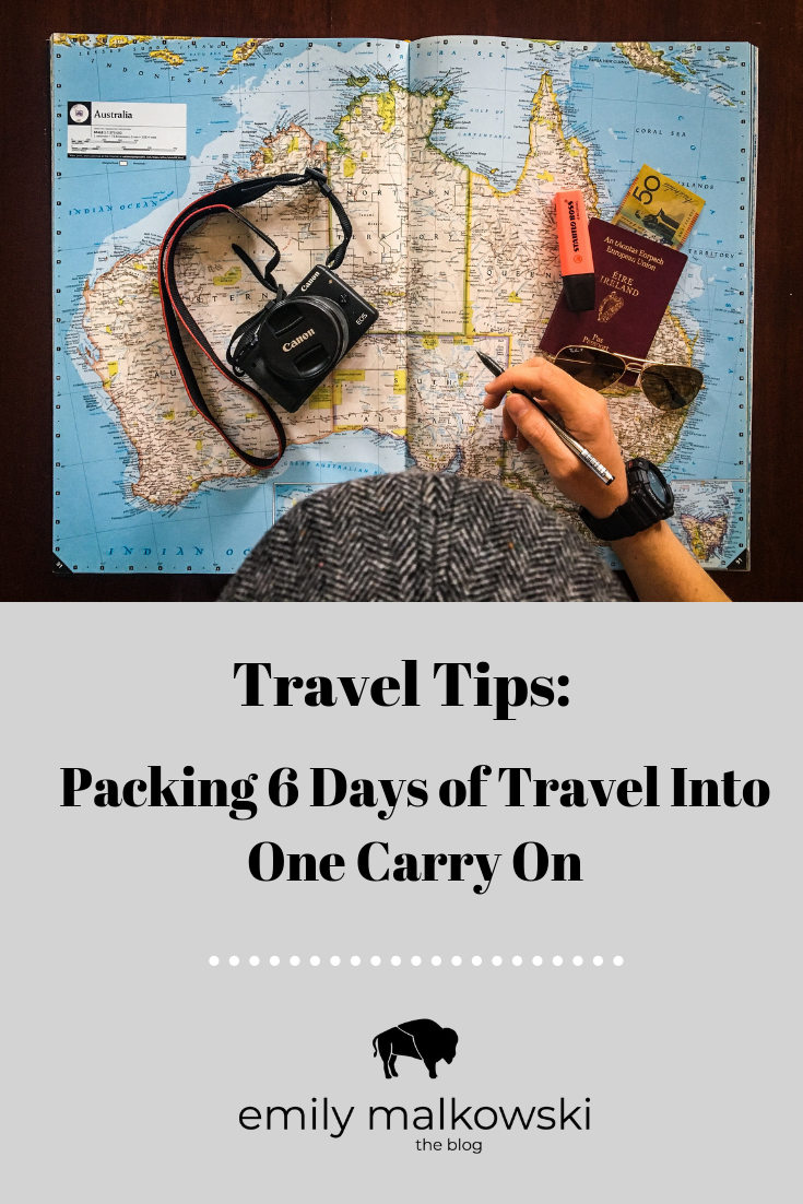 Travel Tips & Packing Hacks | Packing 6 Days of Solo Travel Into One Carry On