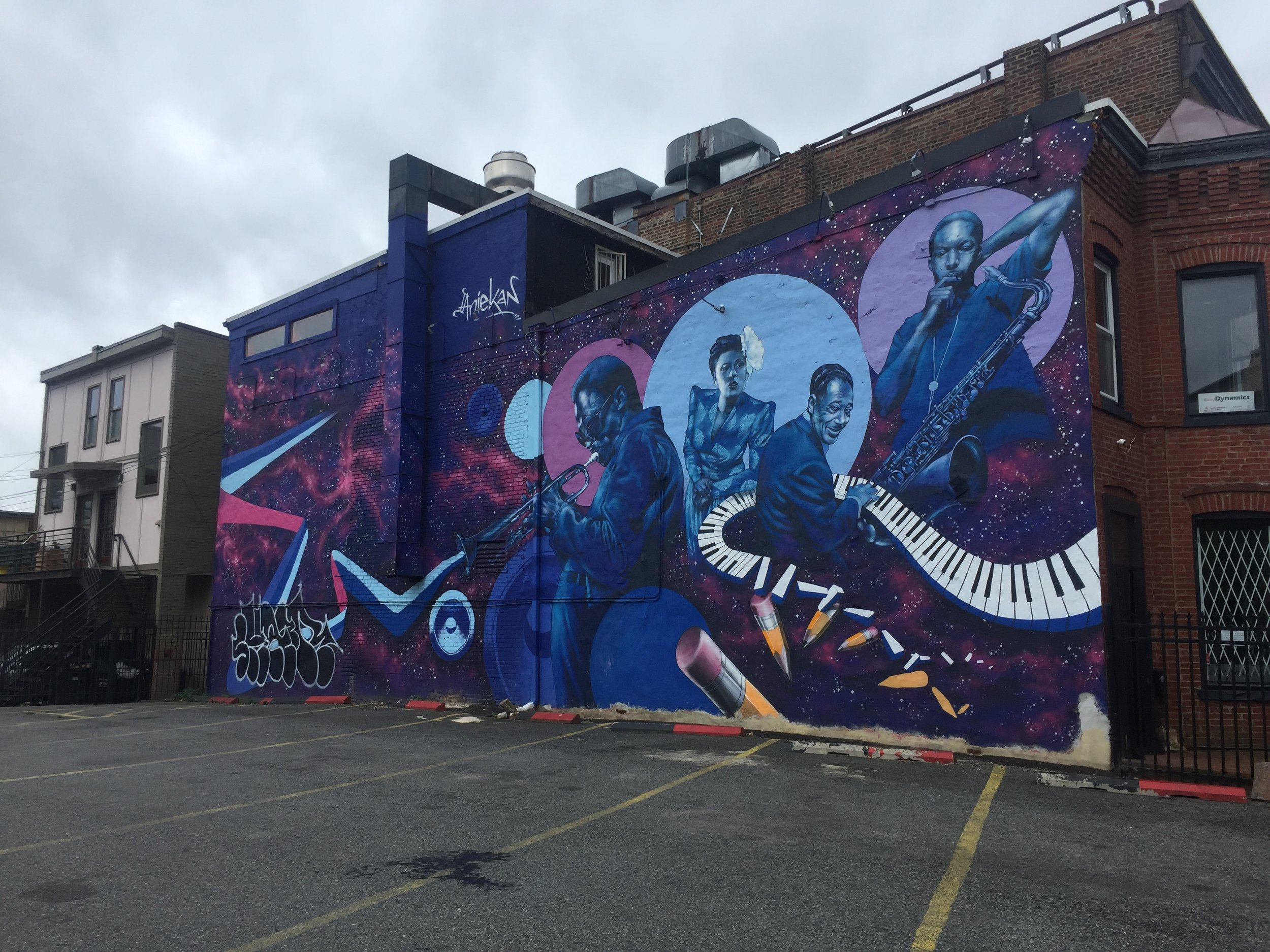 Bohemian Caverns Jazz Mural in Washington, D.C. | Best Instagram Murals