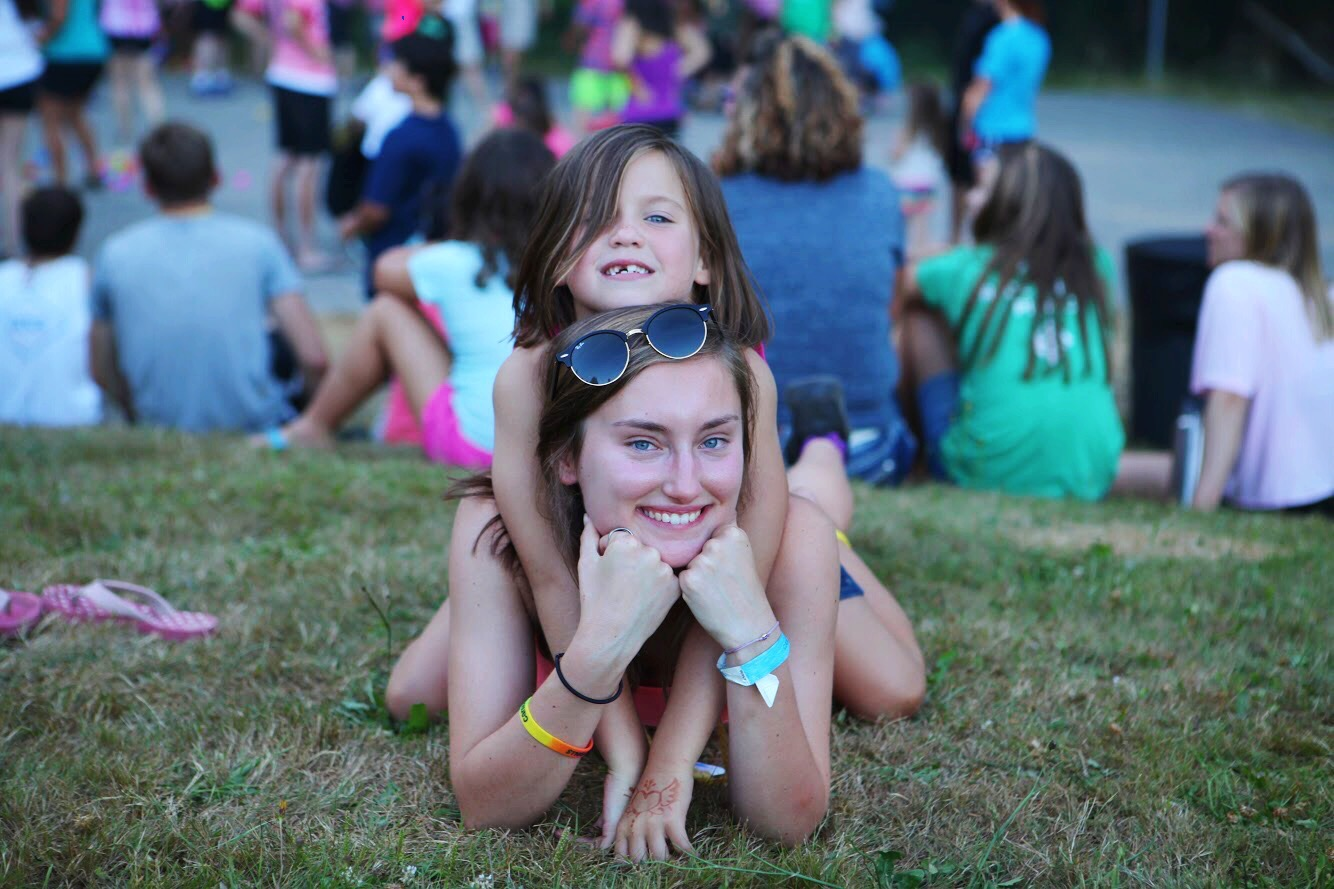 Anna and her special Camp Agape friend
