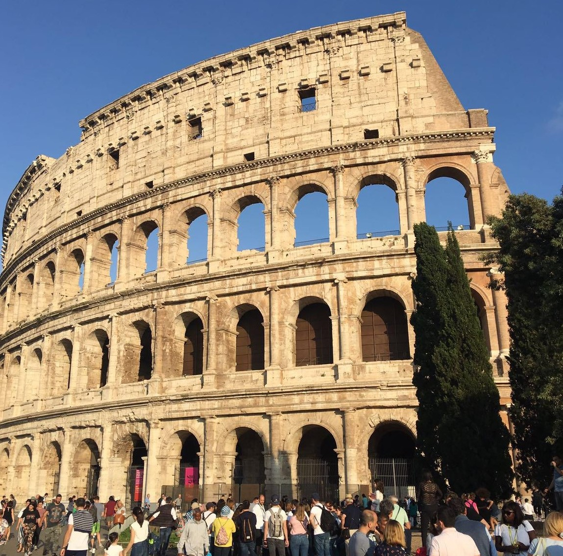 One of the most popular tourist attractions in the world - the mighty Colosseum in Rome, Italy.