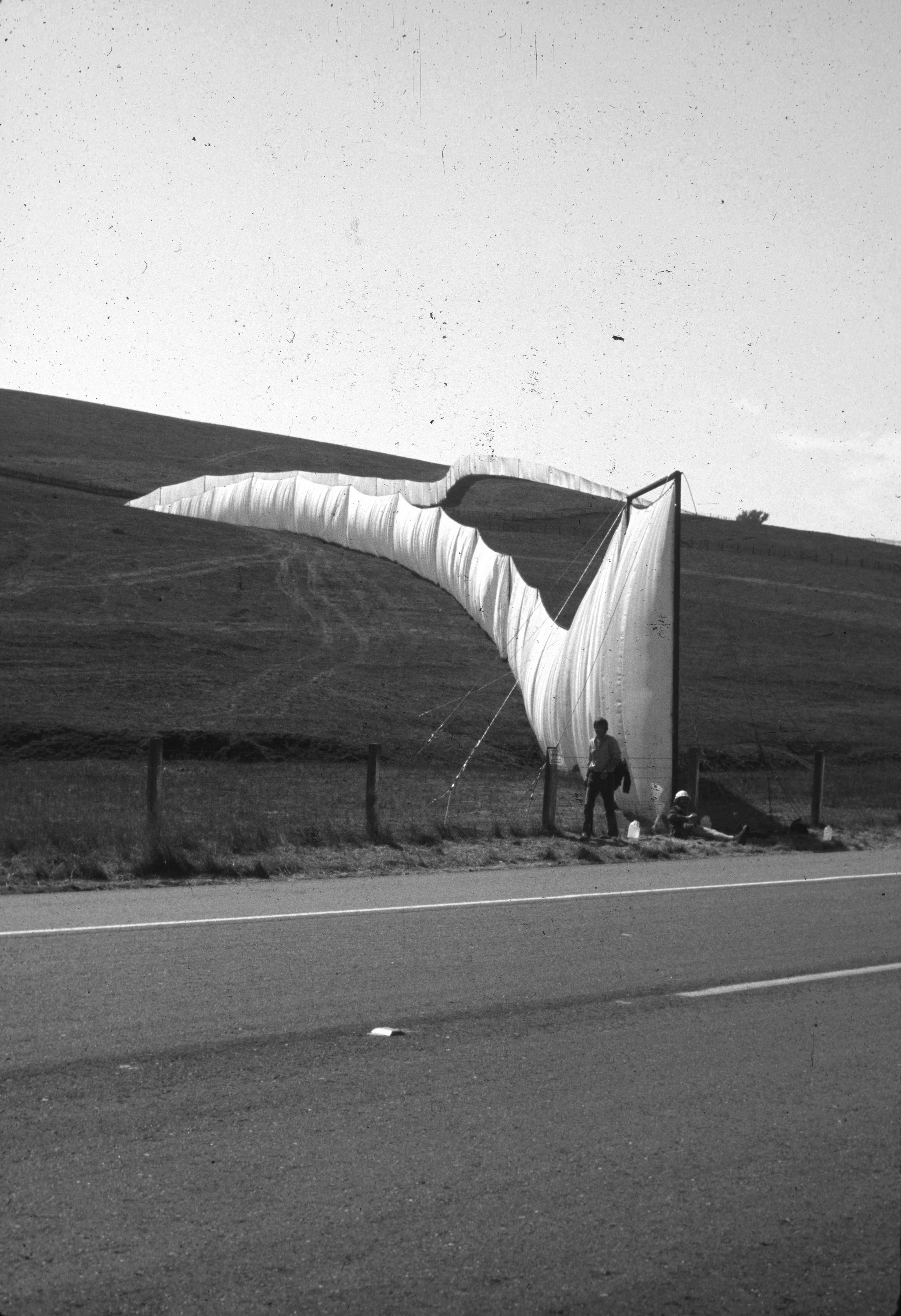 Christo and Jeanne-Claude,  Running Fence , Sonoma and Marin Counties, California, 1972-1976