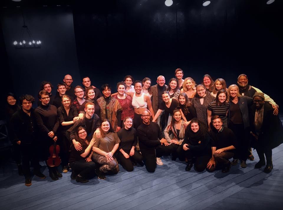 Bernarda alba - The company and team of NYU Tisch- New Studio on Broadway's Bernarda Alba welcomed writer/composer of Bernarda Alba Michael John LaChiusa and original cast member Phylicia Rashad (Bernarda) to our production!