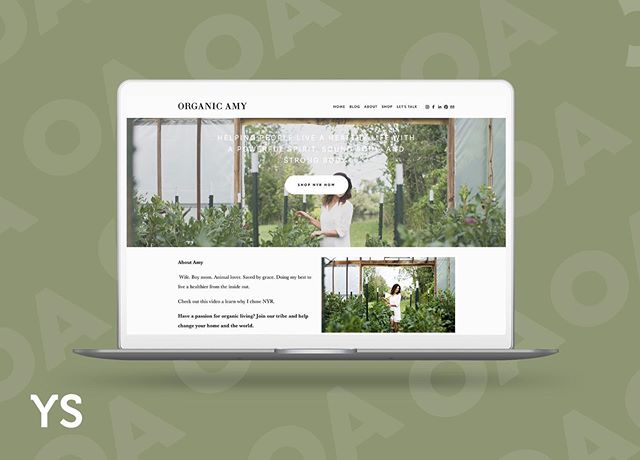 Clean. Sophisticated. Powerful. 🙌🏻 We had so much fun working with @organic_amy on the launch of her website.  A website is a huge part of a brand, it tells a story.  How do you tell yours? #yourspacecreative