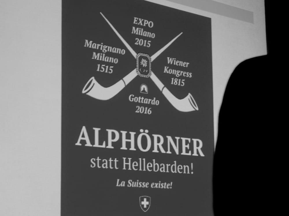 """Präsentation von Dr. Hans Peter Danuser von Platen am CGZ Forum """"Die Schweiz verkaufen"""""""