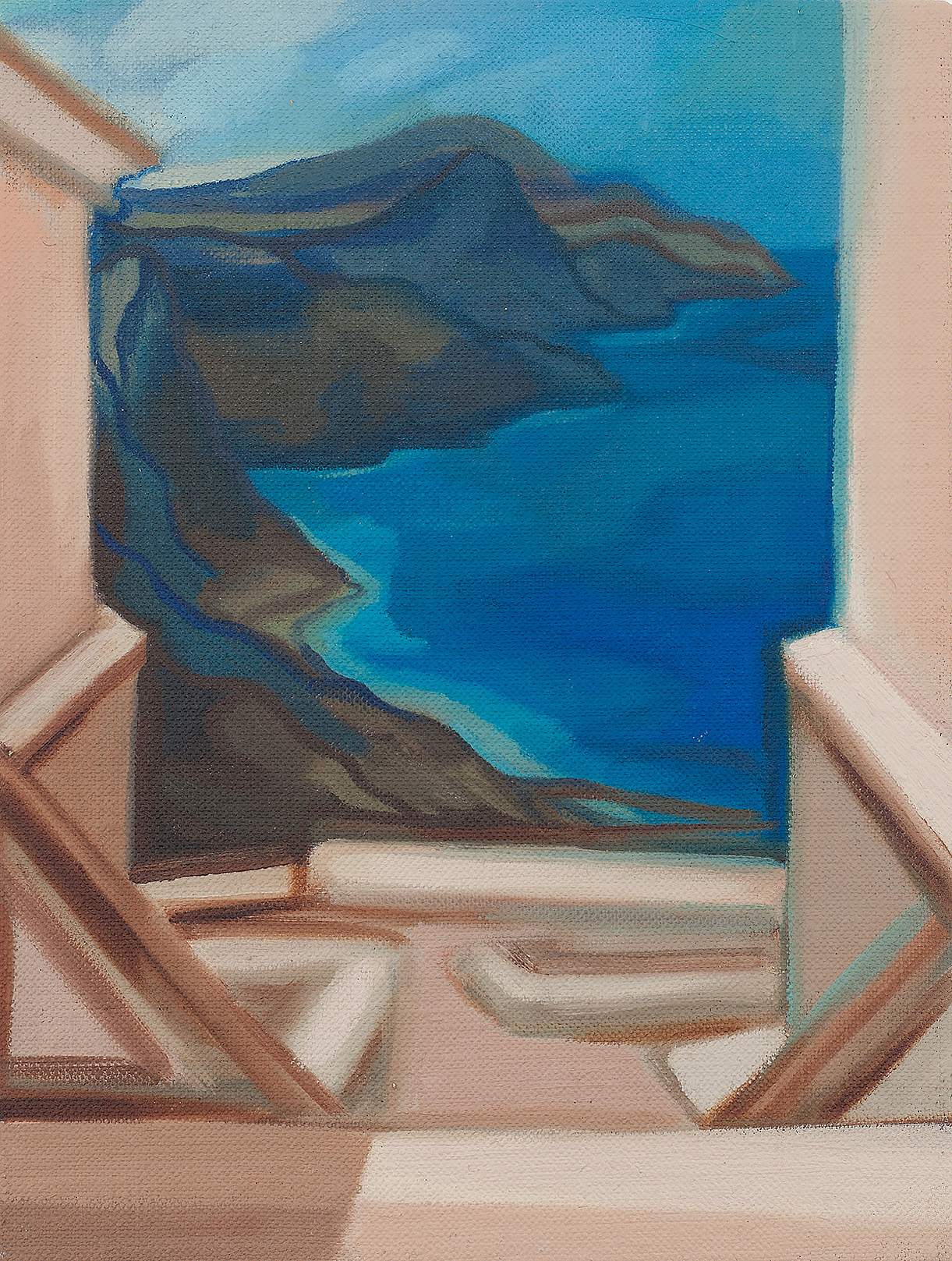 Private Island , Oil on linen board, 20 x 15 cm, 2016. Photograph courtesy of Taryn Ellis
