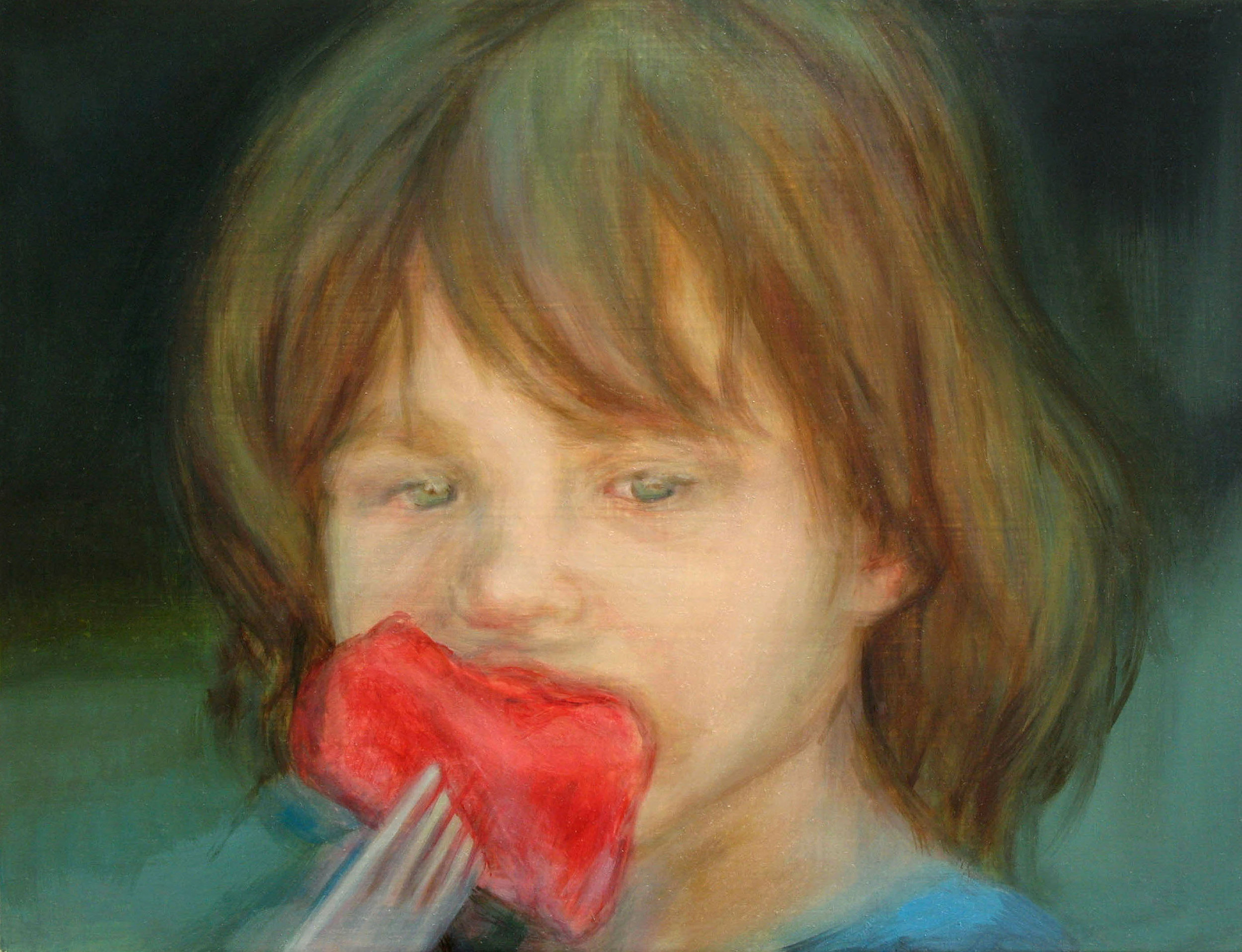 Watermelon,  Oil on board, 30 x 40cm, 2007