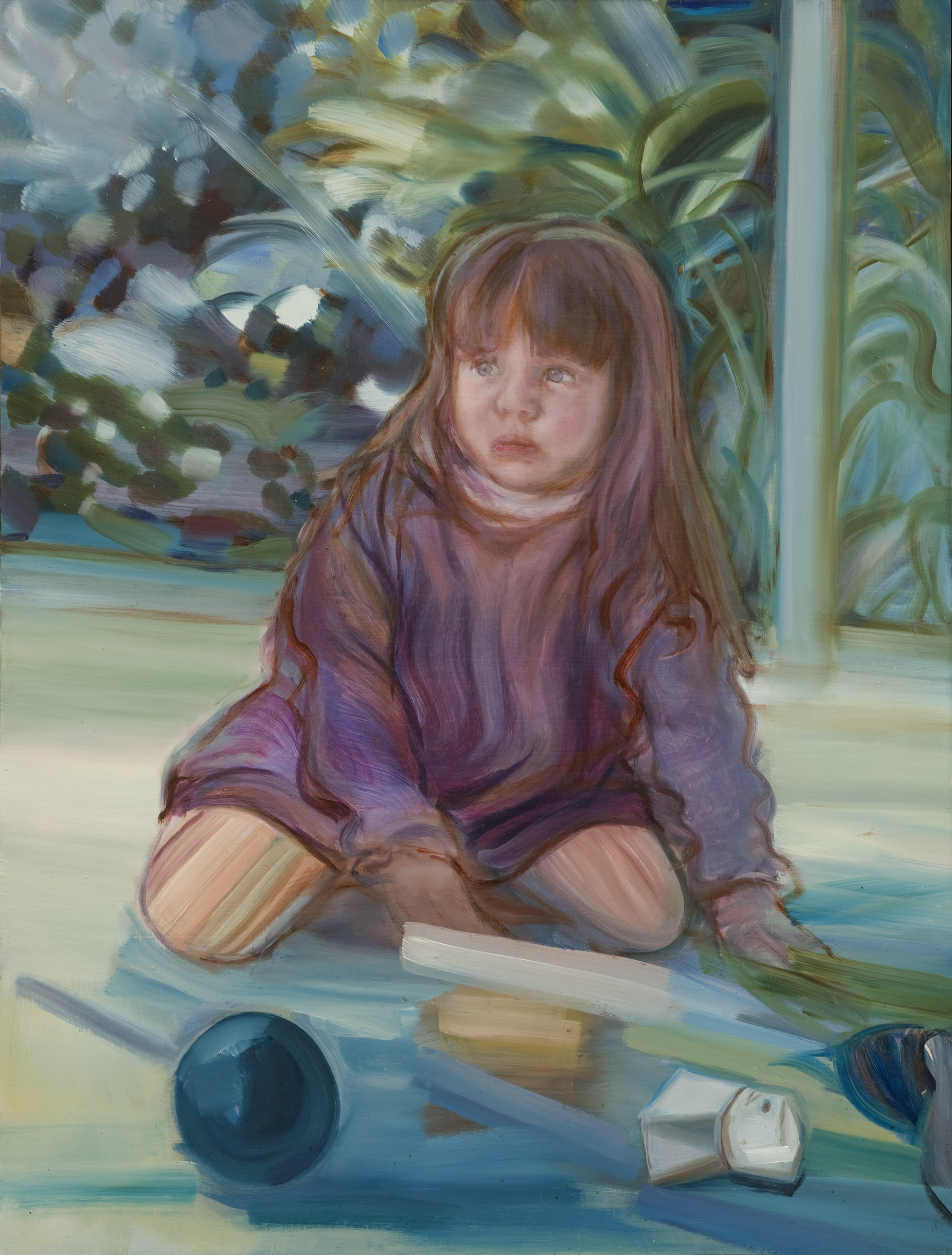 Conservatory , Oil on board with Vic Ash frame, 55 x 44 cm, 2011. Photograph courtesy of Jake Walker