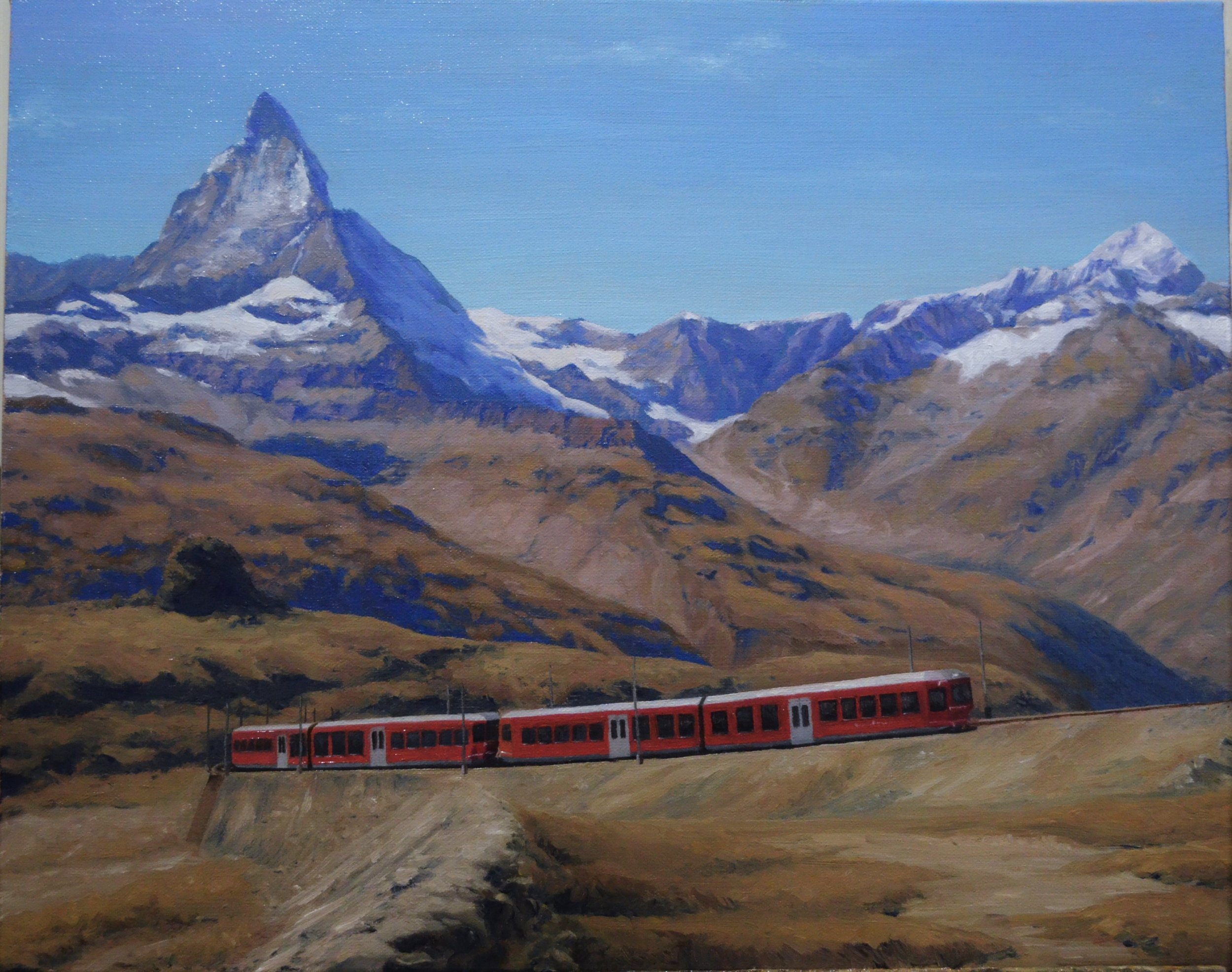 The afternoon train to Matterhorn