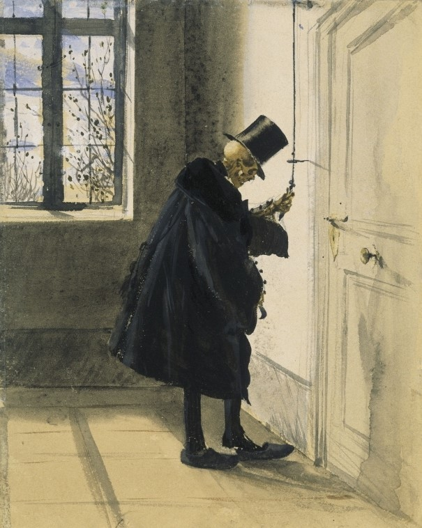 An Uninvited Guest (1844 : Watercolor, pencil & ink) - Adolph Menzel.jpg