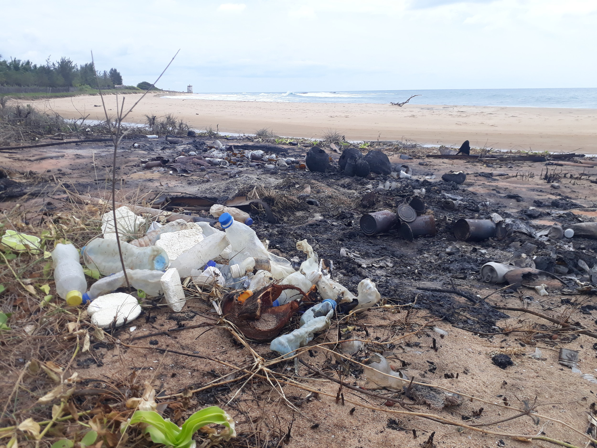 In case you were wondering where most of the plastic trash is ending up ... sadly quite often in flames.