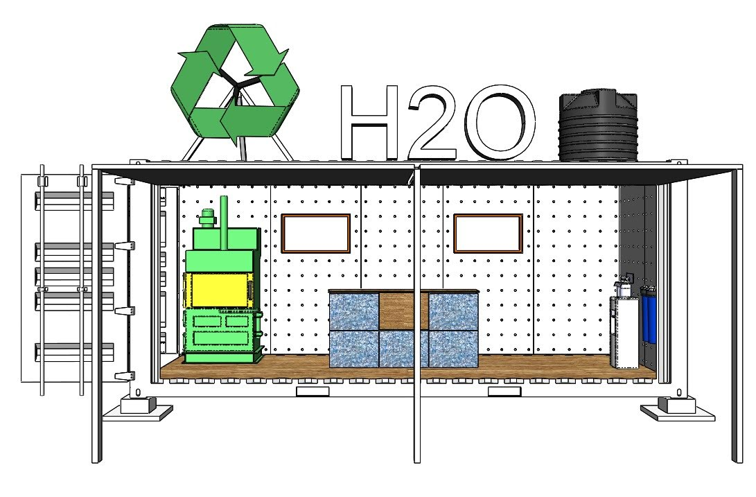 Colombo Design Studio planning out the interior of our H2O container.