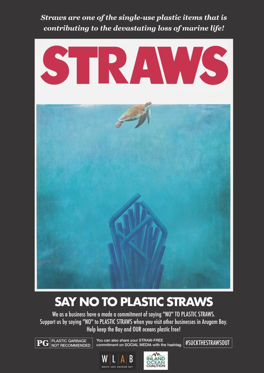 Our poster for the  Say No To Plastic Straws  campaign. Thanks a lot to local artist Mika Tennekoon for the artwork donation. Find more of her work  here .