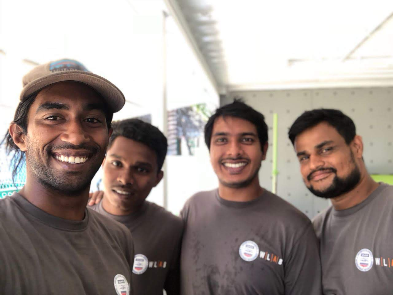 Meet the team in our freshly arrived team shirts. Form left to right: Vinod, Siyam, Fazry and Sulfi.