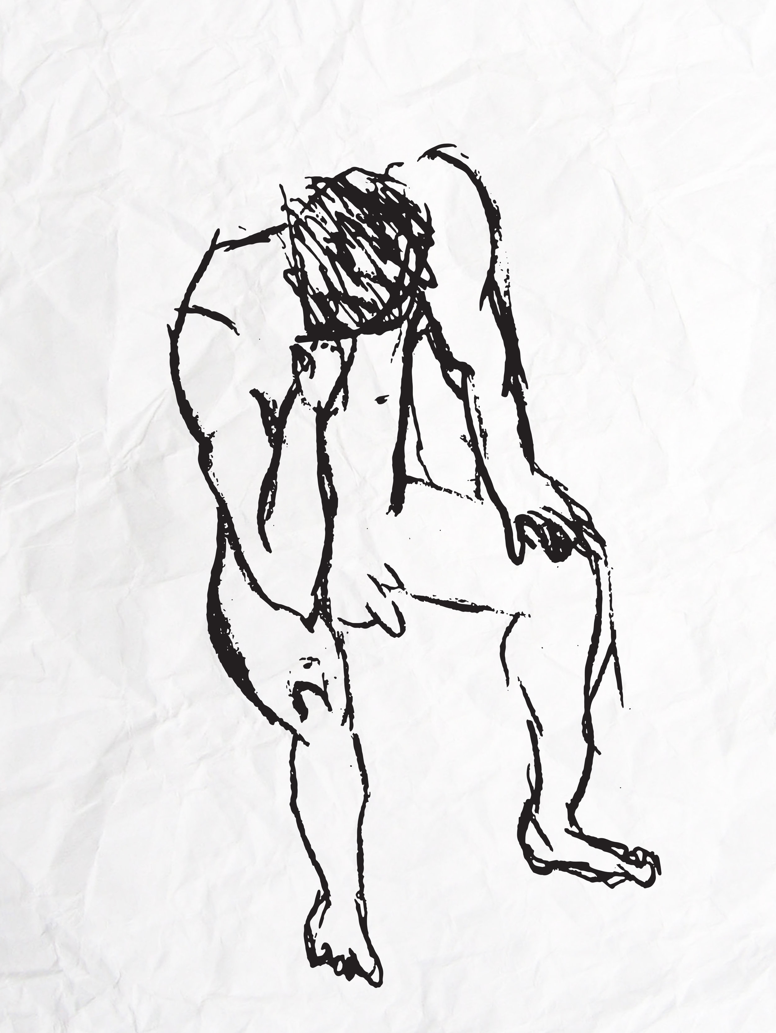 Male model life drawing