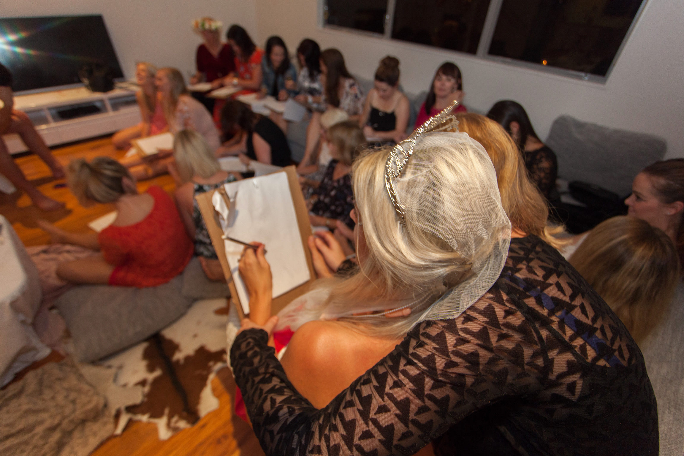 Life drawing class at Hen's party with Bare Butlers