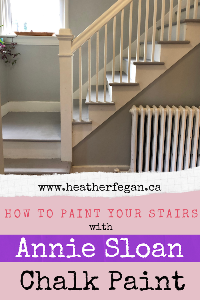 How To Paint A Staircase With Chalk By Annie Sloan The Heather Chronicles