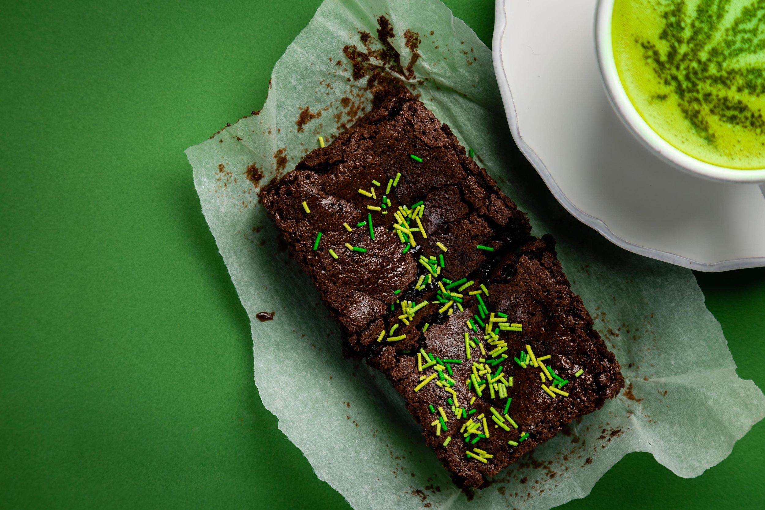 Cannabis Matcha Tea Latte on Green Background.jpg