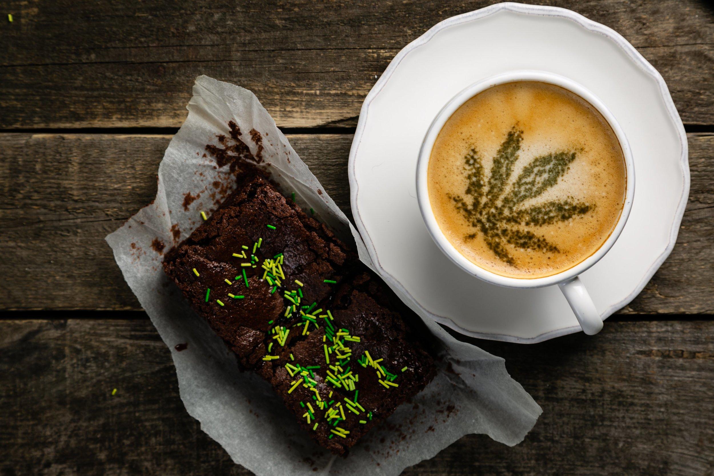 Cannabis Coffee - Marijuana Leaf on Coffee Foam.jpg