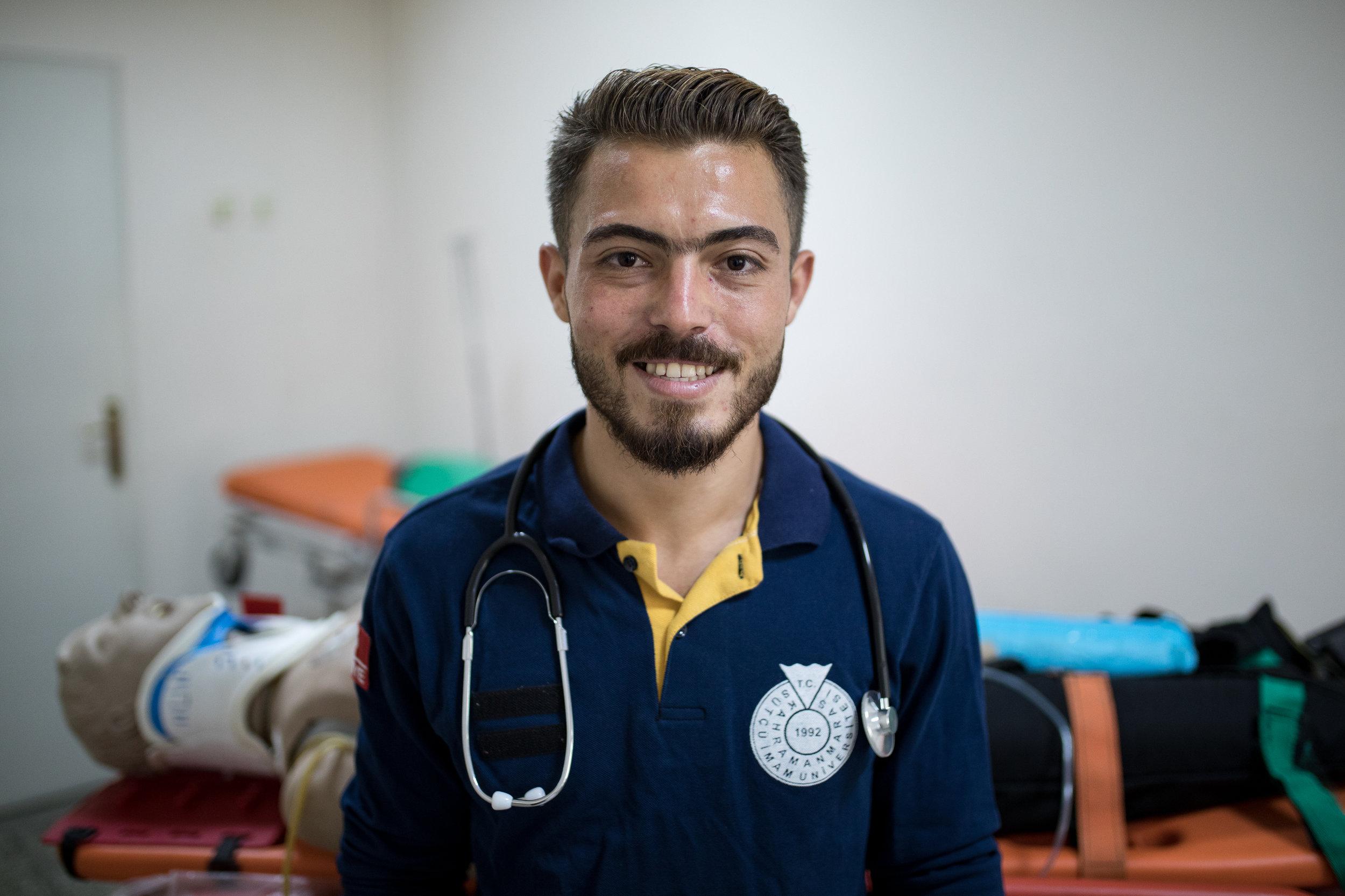 2018-07-02_Muhamed Najar, 24, Paramedic at Sütçü Imam Uni, Kaharamarmas, TK_0447.jpg
