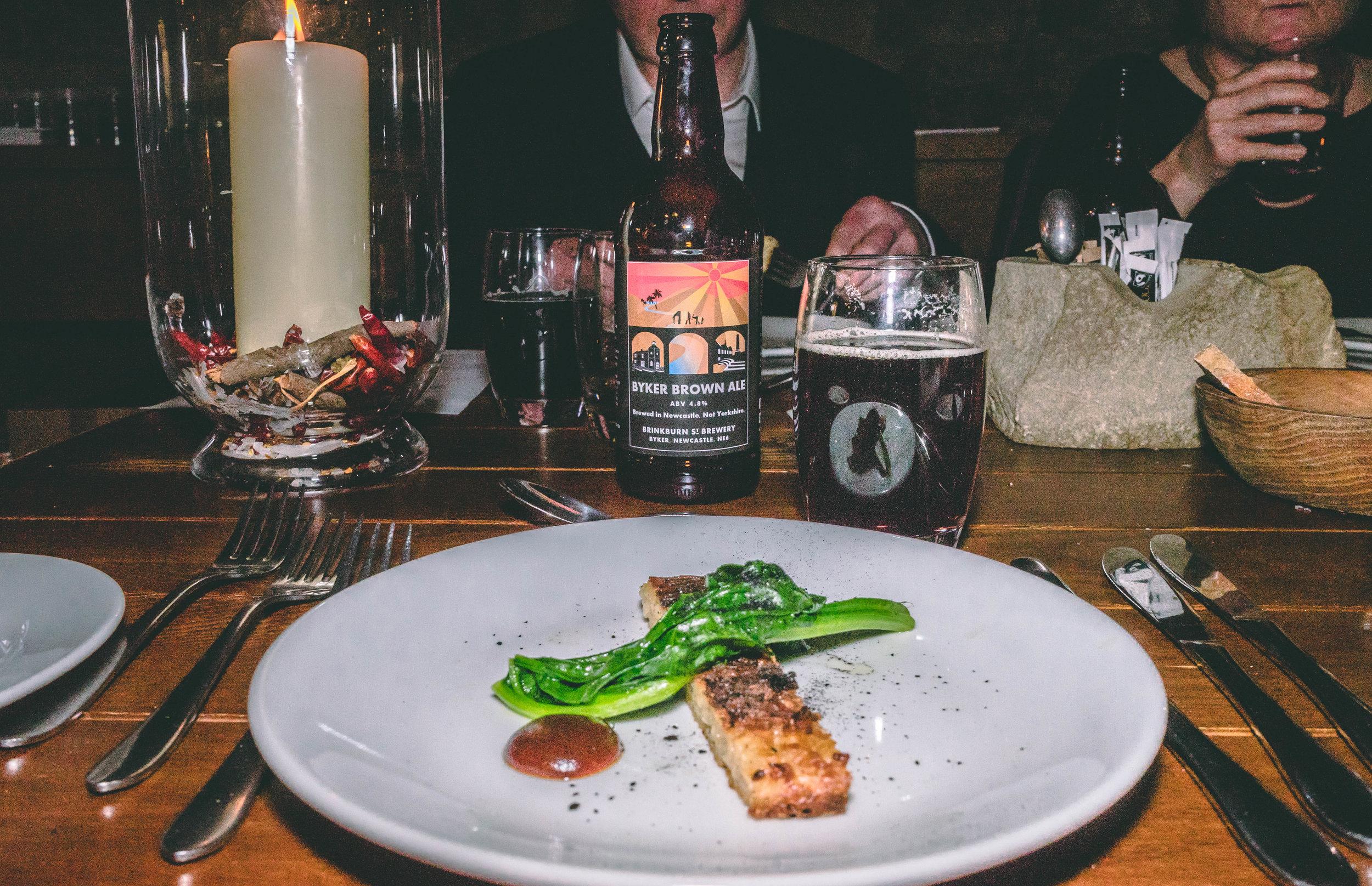 Gateshead floddie, spinach & broon sauce with Byker Brown Ale – 4.8%.jpg
