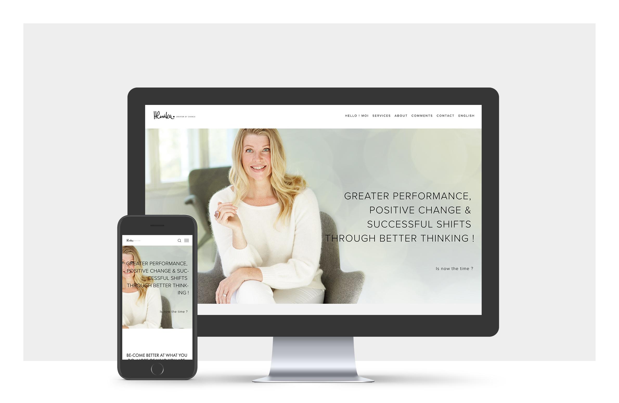 Website for a Finnish Performer Coach