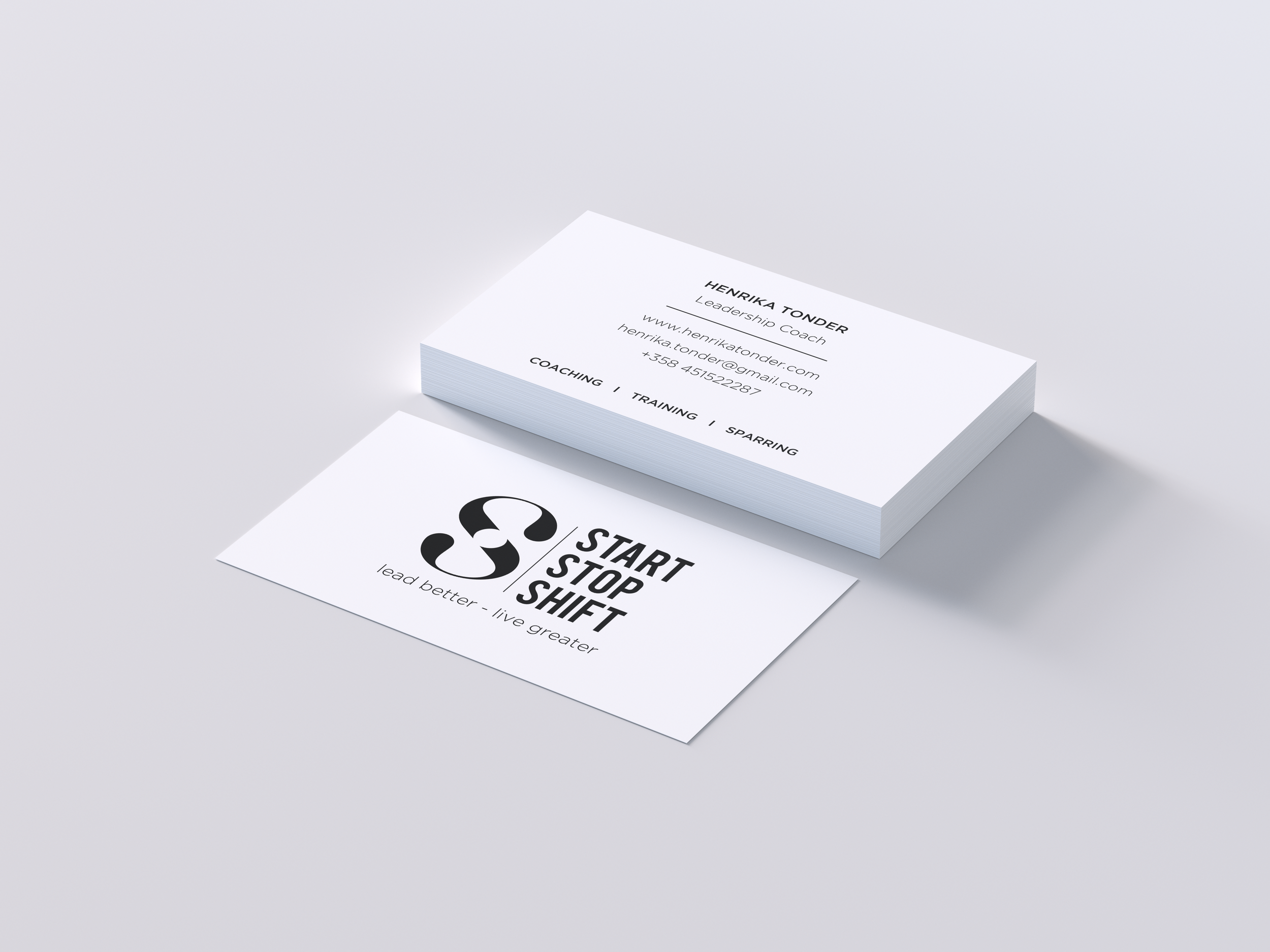 Business Card for the Method - Start Stop Shift