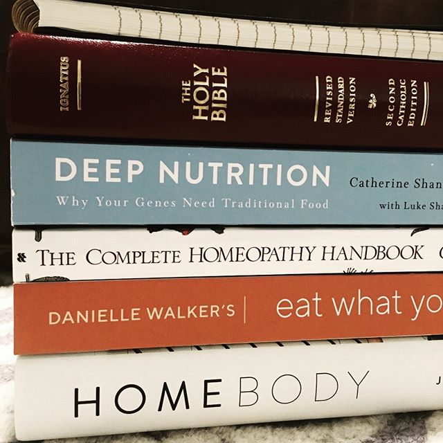 "Happy 2019! I'm excited to learn & grow, continuing to discover and cultivate those passions of mine, at the service of the Lord, my family, and my community. May God bless you this year! (Also, I higgly recommend ""Deep Nutrition"" - a wealth of wisdom!) #thatpaleolife #againstallgrain #holistichealth #crunchymama"