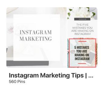 Instagram Marketing Pinterest