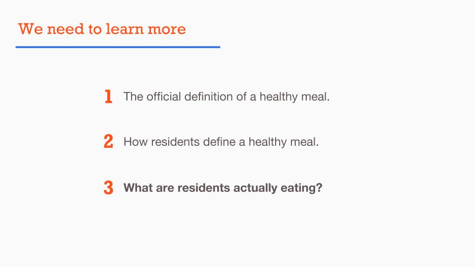 What Are Residents Actually Eating