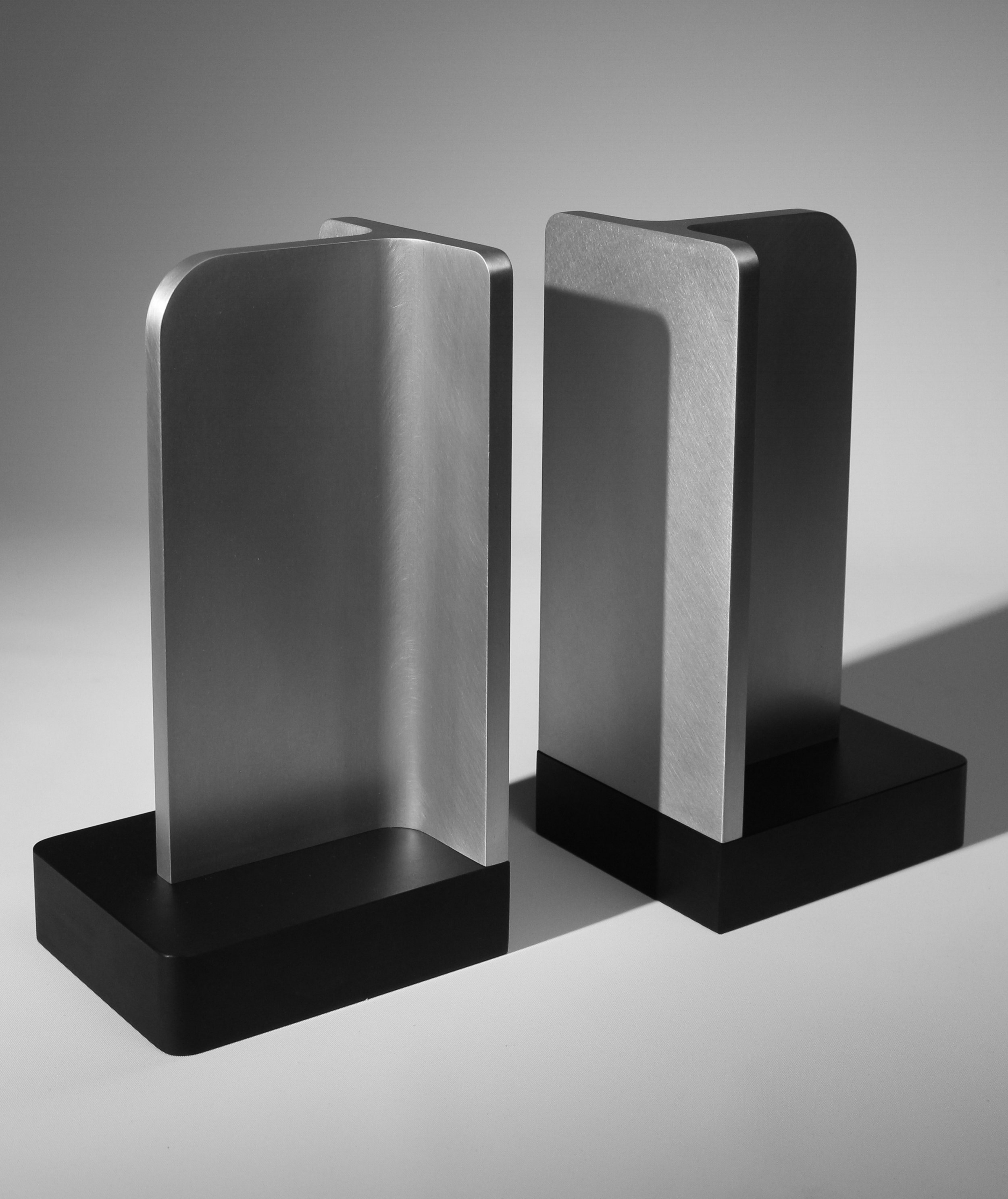 APD Argosy Product Division Structural Bookends  Modern Industrial Product Design for Contemporary Interior Design Clean Geometry Simplicity with Handmade Craftsmanship
