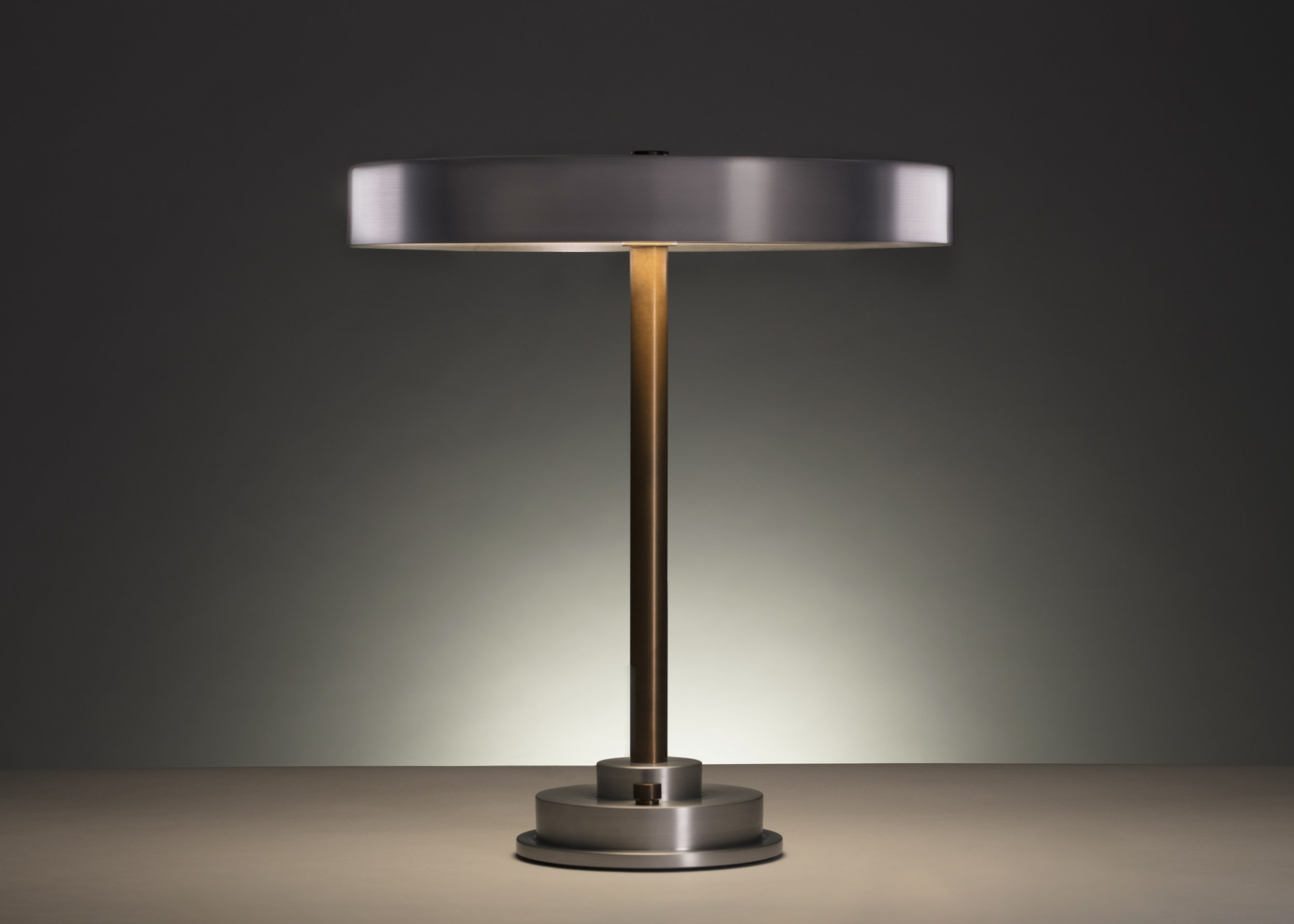 Disc Lamp Burnished Aluminum by APD Argosy Product Division
