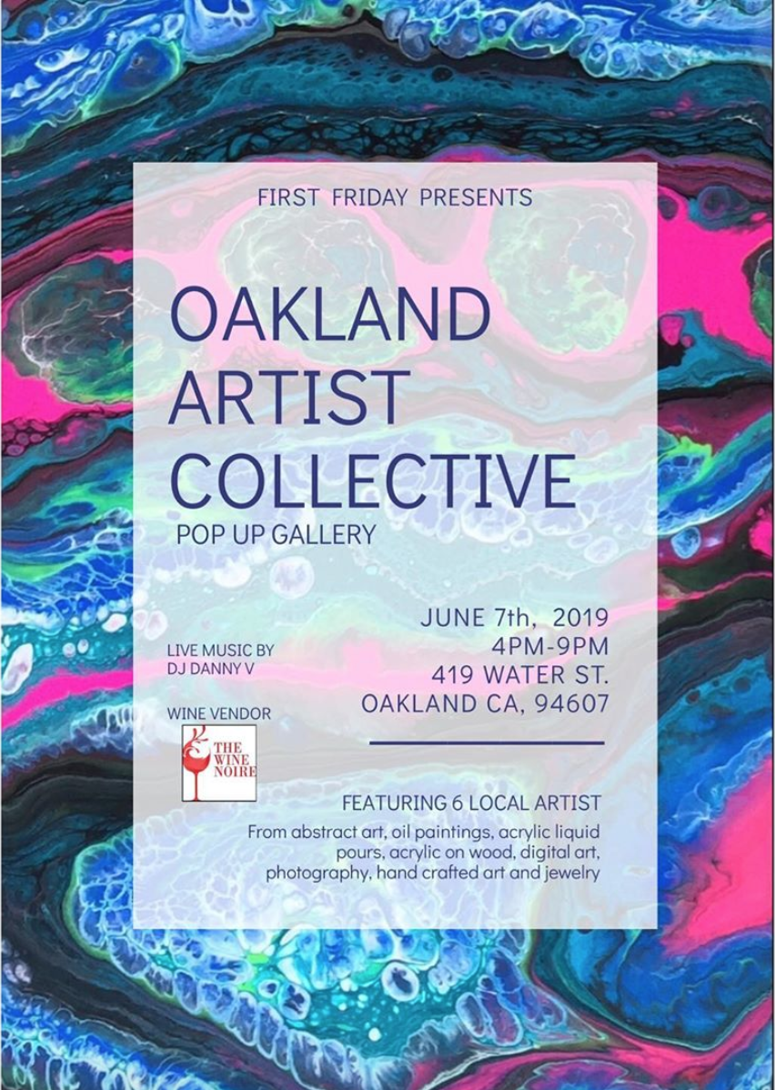 We're popping-up at Oakland Artist Collective June Reception! - Join us June First Friday for refreshments, meet the artists, shop a little and get down (tomorrow) night! Admission is free, open to all ages.
