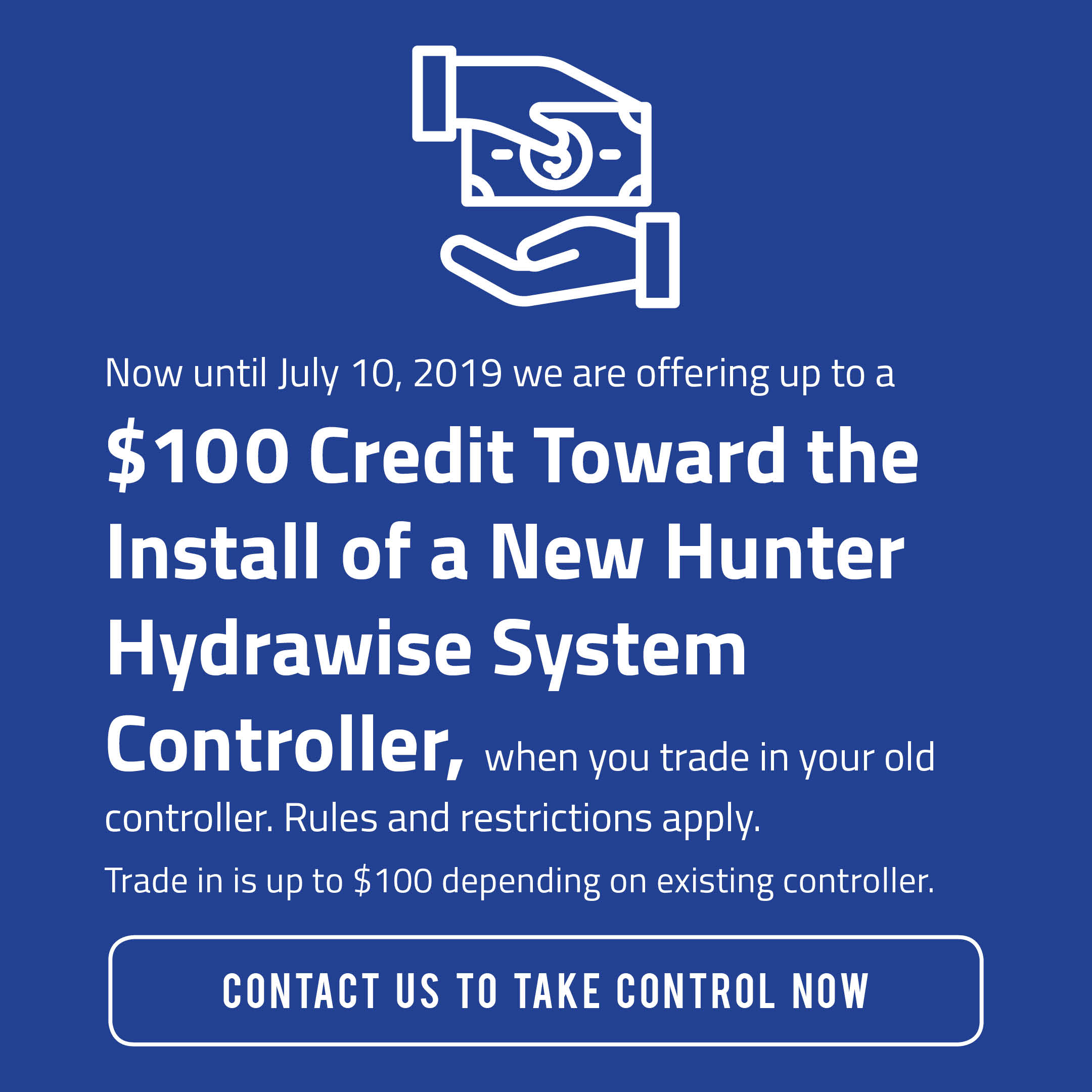 Hunter Hydrawise System Controller Promotion