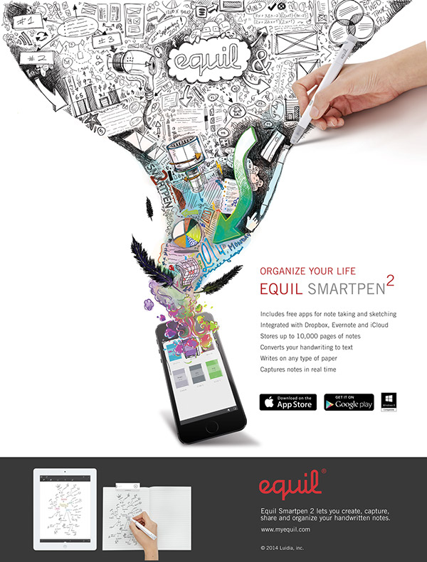 Equil Smartpen 2 package illustration and marketing image