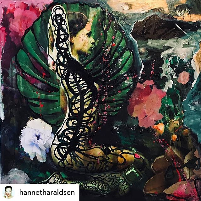 """""""Shakti Power,"""" or that dynamic energy that can create, maintain and/or destroy the Universe. We all have within. Thank you @hannetharaldsen for inviting me to be part of your ART and helping me express mine. 🙏 #supportartists #divinefeminine #shakti #blessings #goddess #female #energy #united"""