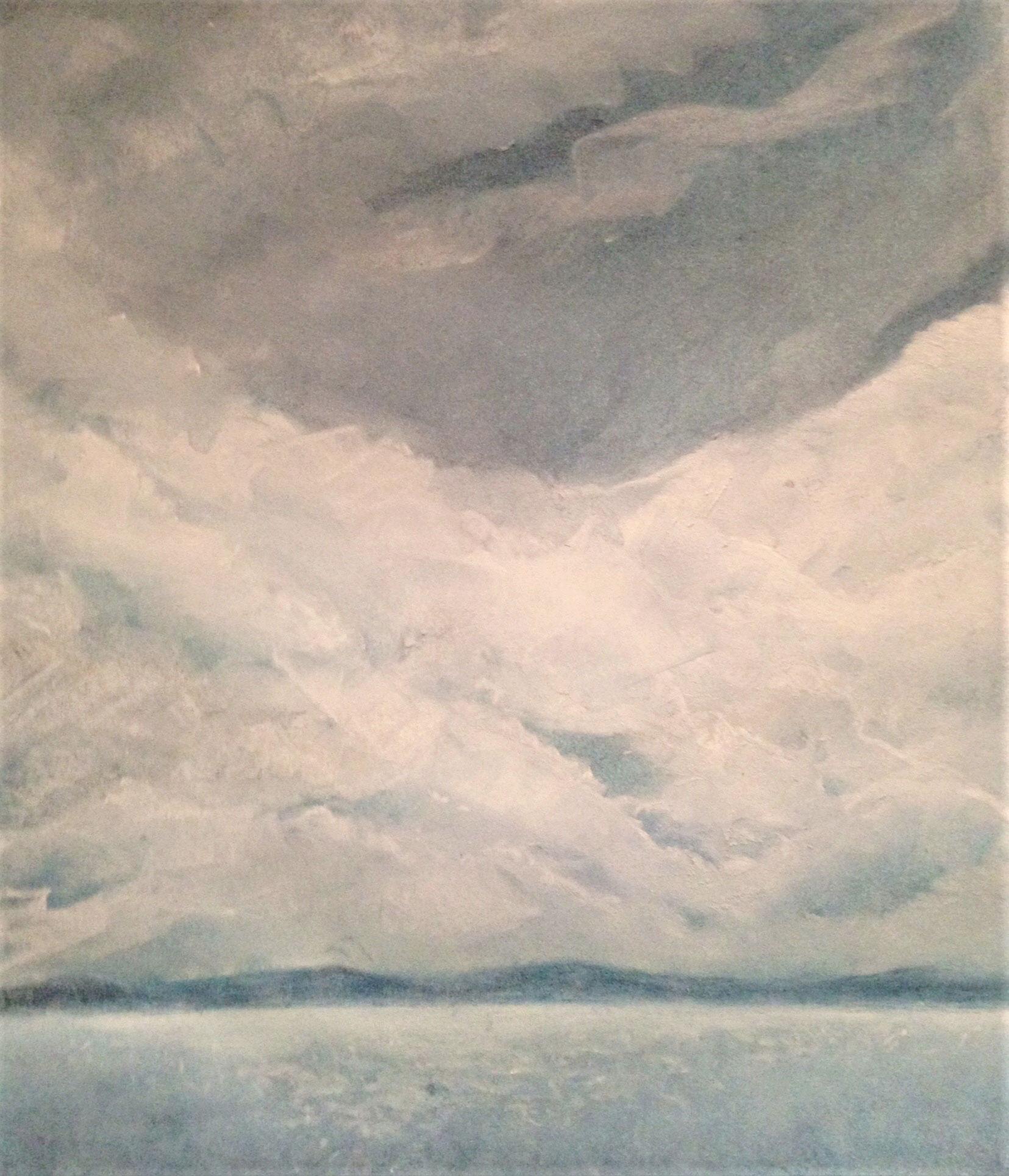 "Seascape V   2014 16"" x 12"" (40.6 x 30.5 cm) soft pastel on paper"
