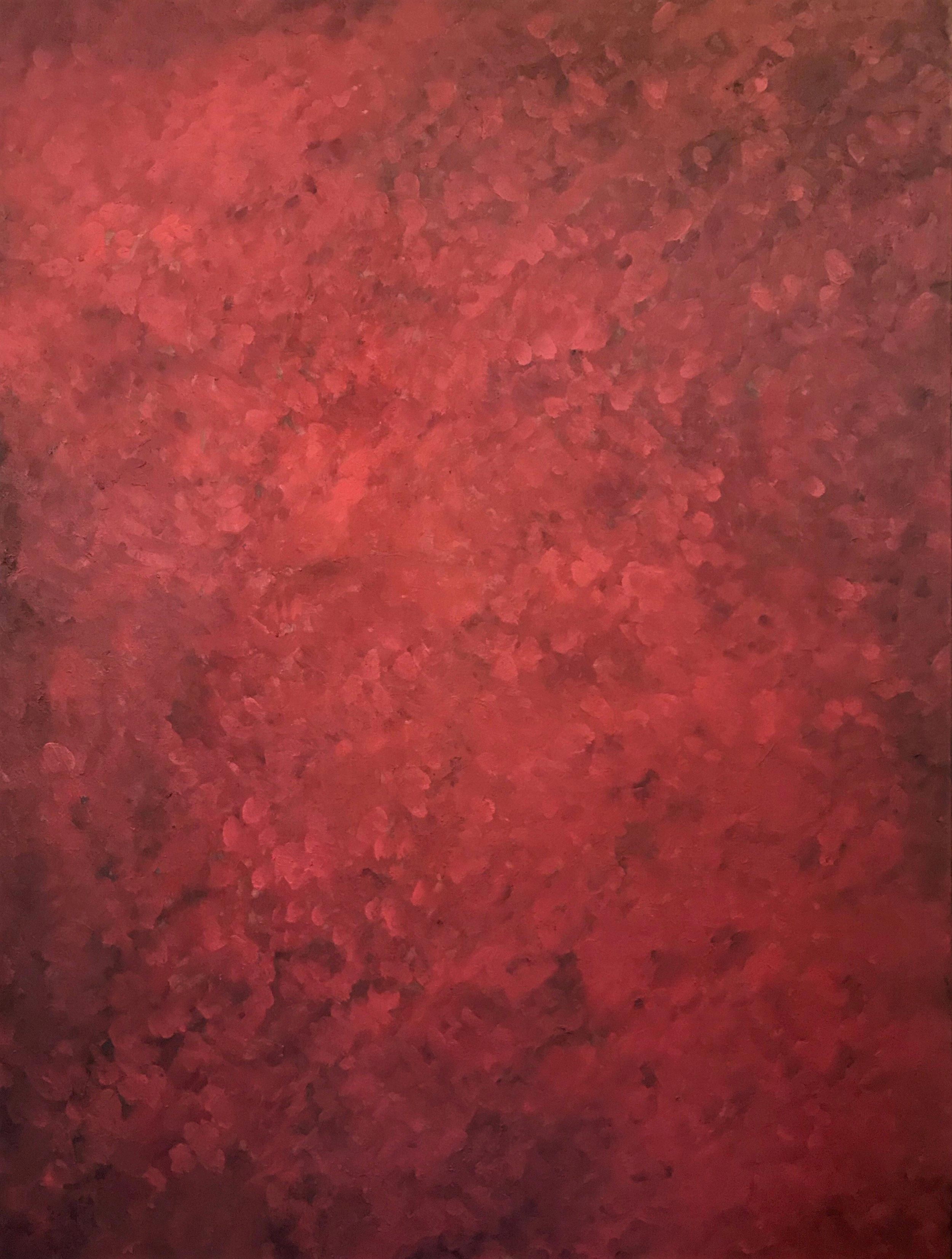 """Red II  2014   48"""" x 36"""" (121.9 x 91.4 cm)  oil on canvas"""