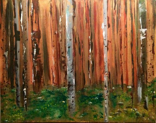"""Solitude   2013  16"""" x 20"""" (40.6 x 50.8 cm)  acrylic on canvas    $2.450"""