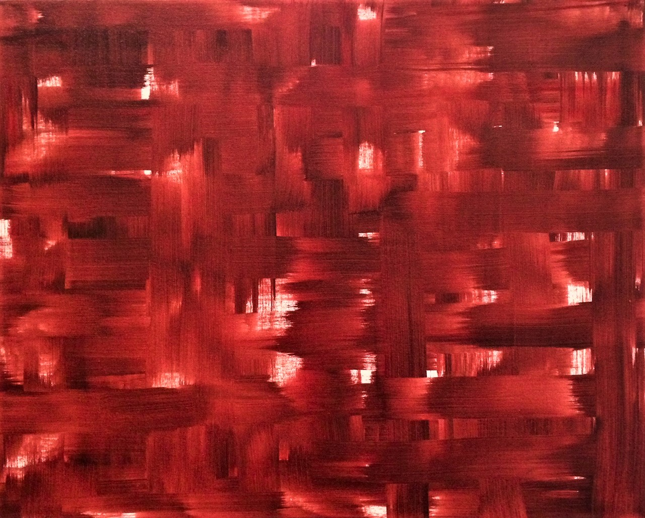 "Red III   2014  24"" x 30"" (60.1 x 76.2 cm)  acrylic on canvas    $2,800"