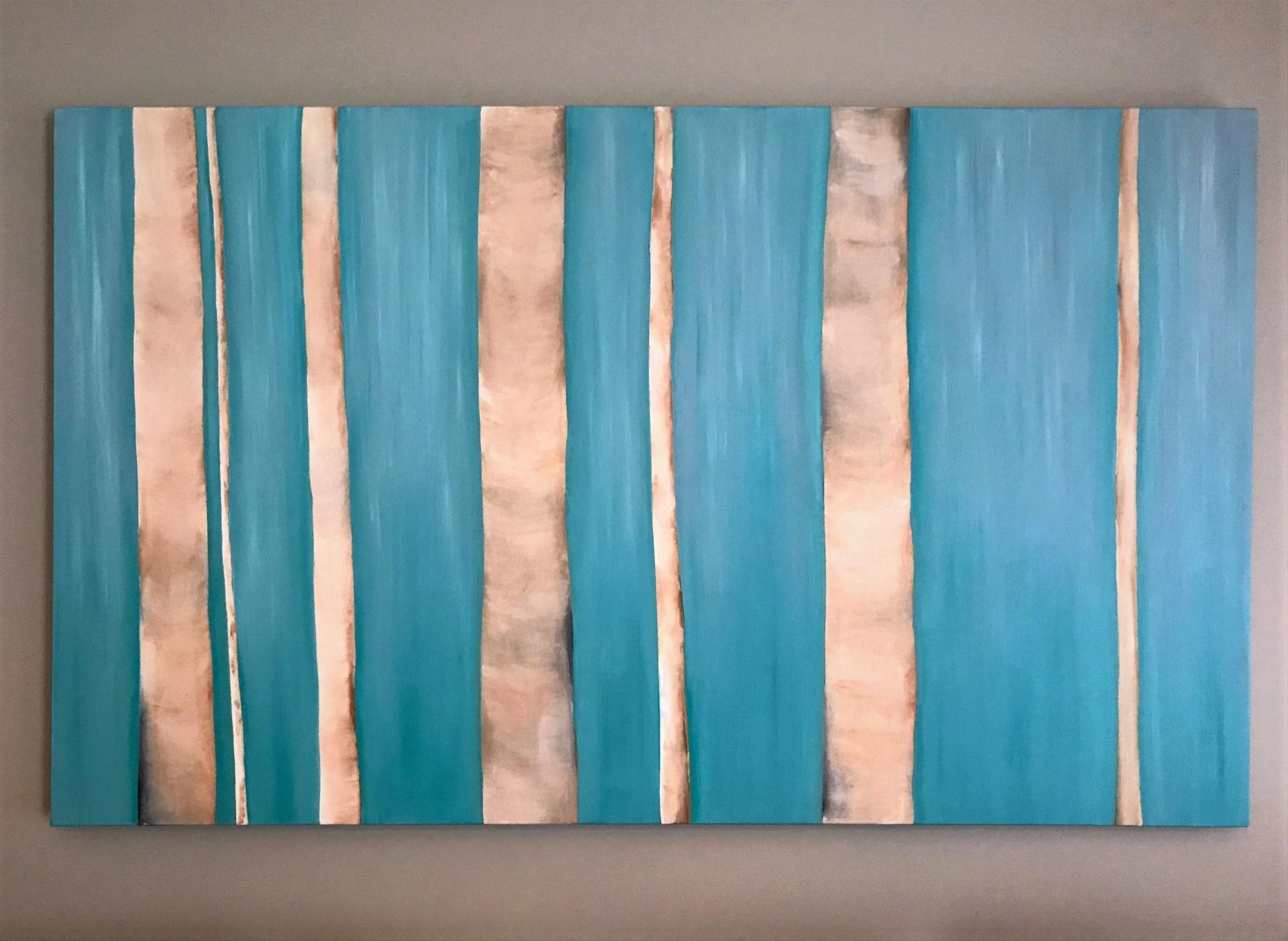 "Birch Forest   2009   36"" x 60"" (91.4 x 152.4 cm)  oil on canvas"